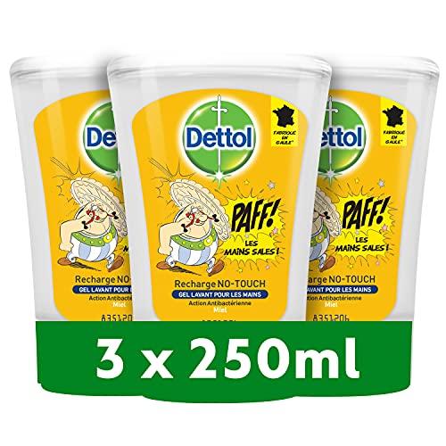 DETTOL 3 Recharge No-Touch Savon Liquide Mains 250 ml - Action Nettoyante - Miel