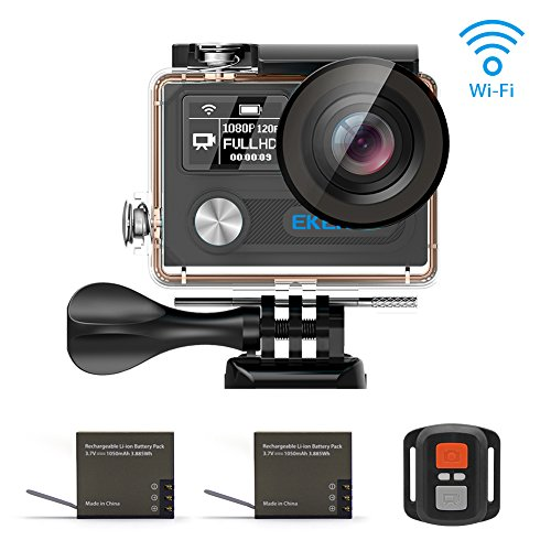 EKEN H8 Pro Wifi Cámara Deportiva Impermeable con 2 Batería Ambarella A12S75 Sony IMX078 + 2.4G Control remoto + Selfie...