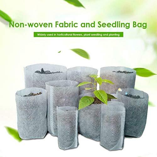 Otto Sacs à Plantes, 100PCS Sacs Biodégradables en Tissu Non Tissé, Élevage de Graines pour Semis de Plantes