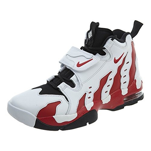 Nike Mens Air DT Max '96 Hight Top Pull On, White/Varsity Red/Black, Size 10.5