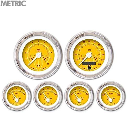Aurora Nashville-Davidson Mall Instruments 5729 Pinstripe Very popular II Metric Yellow 6-Gauge Set