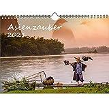 Asienzauber DIN A4 Kalender für 2021 Asien Stadt und Land - Geschenkset Inhalt: 1x Kalender, 1x Weihnachtskarte (insgesamt 2 Teile)