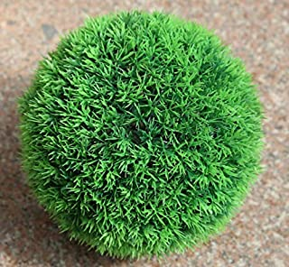 NUTY DESTY Factory Mixed Sizes Plastic Flowers Leaf Effect Topiary Balls Artificial Grass Balls Outdoor Hanging Garden Decor 3 Topiary Balls
