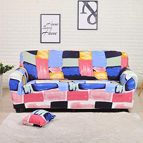 Fundas de sofá elásticas Protector de Muebles Poliéster Loveseat Funda de sofá Funda Armchair para Sala de Estar A22 4 plazas