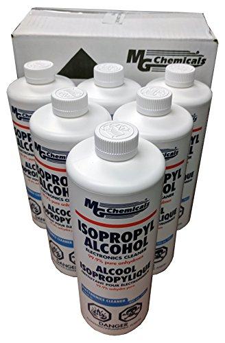 MG Chemicals 824-1L Limpiador de electrónica, de 99.9 de alcohol isopropílico, 1cuarto de galón, botella líquida