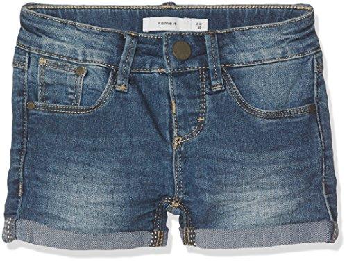 NAME IT NAME IT Mädchen NITTADA Slim DNM NMT NOOS Shorts, Blau (Dark Blue Denim), 116