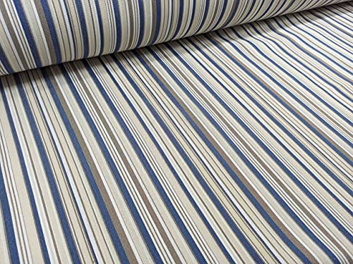 RIVERO TEJIDOS. Tejido de lona de toldo con rayas pequeñas en color azul. Metraje 3,5 x 3,20m.Ideal para exterior.