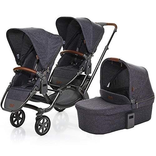 Carrinho de Bebê Para Gêmeos Abc Design Zoom + Moisés Style Street