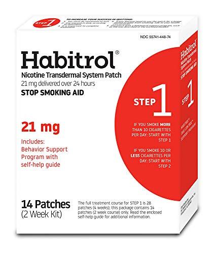 Habitrol Nicotine Transdermal System Stop Smoking Aid, Step 1 (21 mg), 14 Patches