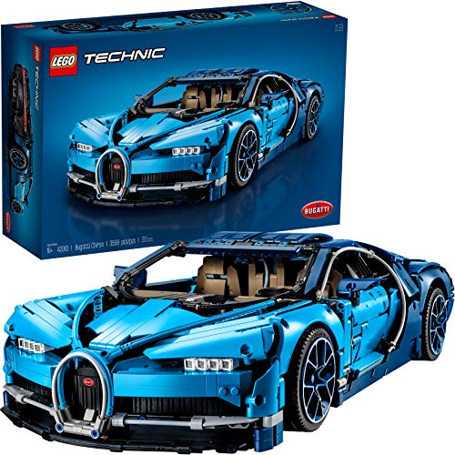 LEGO Technic Bugatti Chiron 42083 Race Car Building Kit and Engineering Toy, Adult Collectible Sports Car with Scale Model Engine (3599 Pieces)
