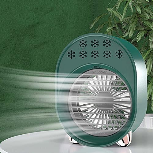 DJH Ventilador de Aire Acondicionado portátil, Mini Ventilador de nebulización humidificador de circulación silencioso con Mango de Enfriador de Aire para Dormitorio de Oficina en casa,Verde