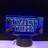 El Programa De Televisión Stranger Things 3D Led Lámpara Regalo Encantador Para El Bebé Para La Habi...
