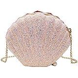 Bolsos Mujer Mujeres Niñas Monedero Bolsos De Hombro Cruzados Cadena De Lentejuelas Brillantes Monedero De Noche Rosa