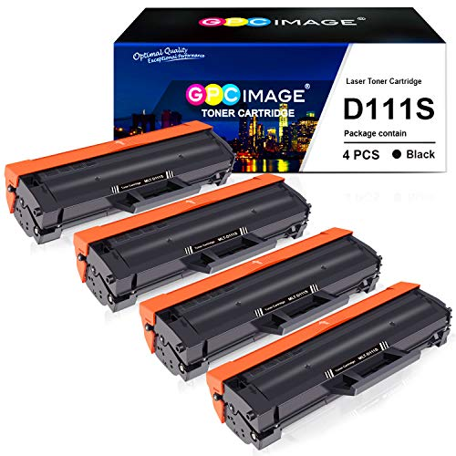 GPC Image D111S Cartucce Toner Compatibile per Samsung MLT-D111S 111S Nero per Samsung Xpress SL-M2026 SL-M2026W SL-M2070 SL-M2070W SL-M2070FW SL-M2070F SL-M2020 SL-M2020W SL-M2022 SL-M2022W,4 Nero