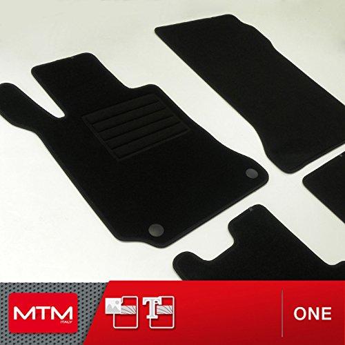MDM Fußmatten Classe E Coupe (W207) ab 02.2009- Passform wie Original aus Velours, Automatten mit Absatzschoner aus Textile, Rand rutschhemmender, cod. One 2038