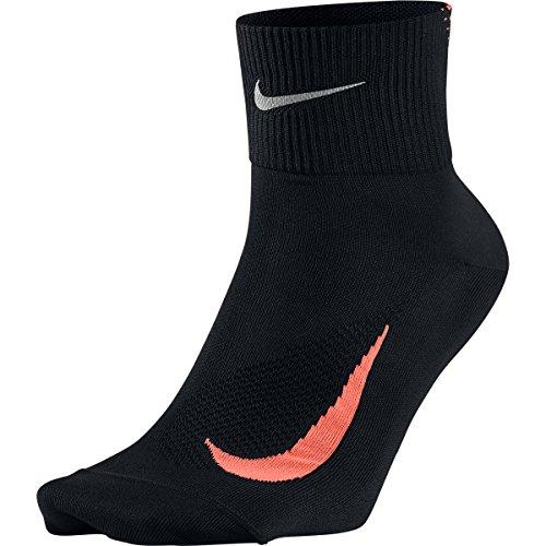 NIKE U NK Elite Lightweight QT - Calcetines de correr para hombre, Hombre, Calcetines unisex para correr, SX5194-013, Negro y naranja., 6-7.5