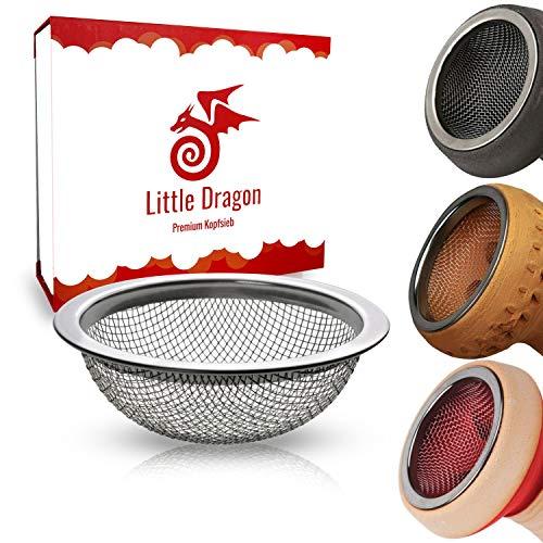 Little Dragon Universal Shisha Sieb - Die Lösung zum sofortigen Tabak sparen - Hochwertiges V2A Edelstahl Tonkopfsieb - Nie Wieder Tabak in der Bowl - Premium Shisha Zubehör
