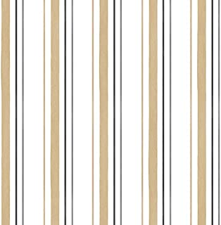 Manhattan comfort NWSH34505 Leeds Series Vinyl Striped Design Large Wallpaper Roll, 20.5