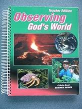 Observing God's World Teacher Edition (A Beka Science Book)