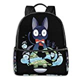 Edmundy Kiki's-Delivery-Service-Flying-Jiji Backpack Unisex Fashion Durable All-Purpose Canvas Backpack.