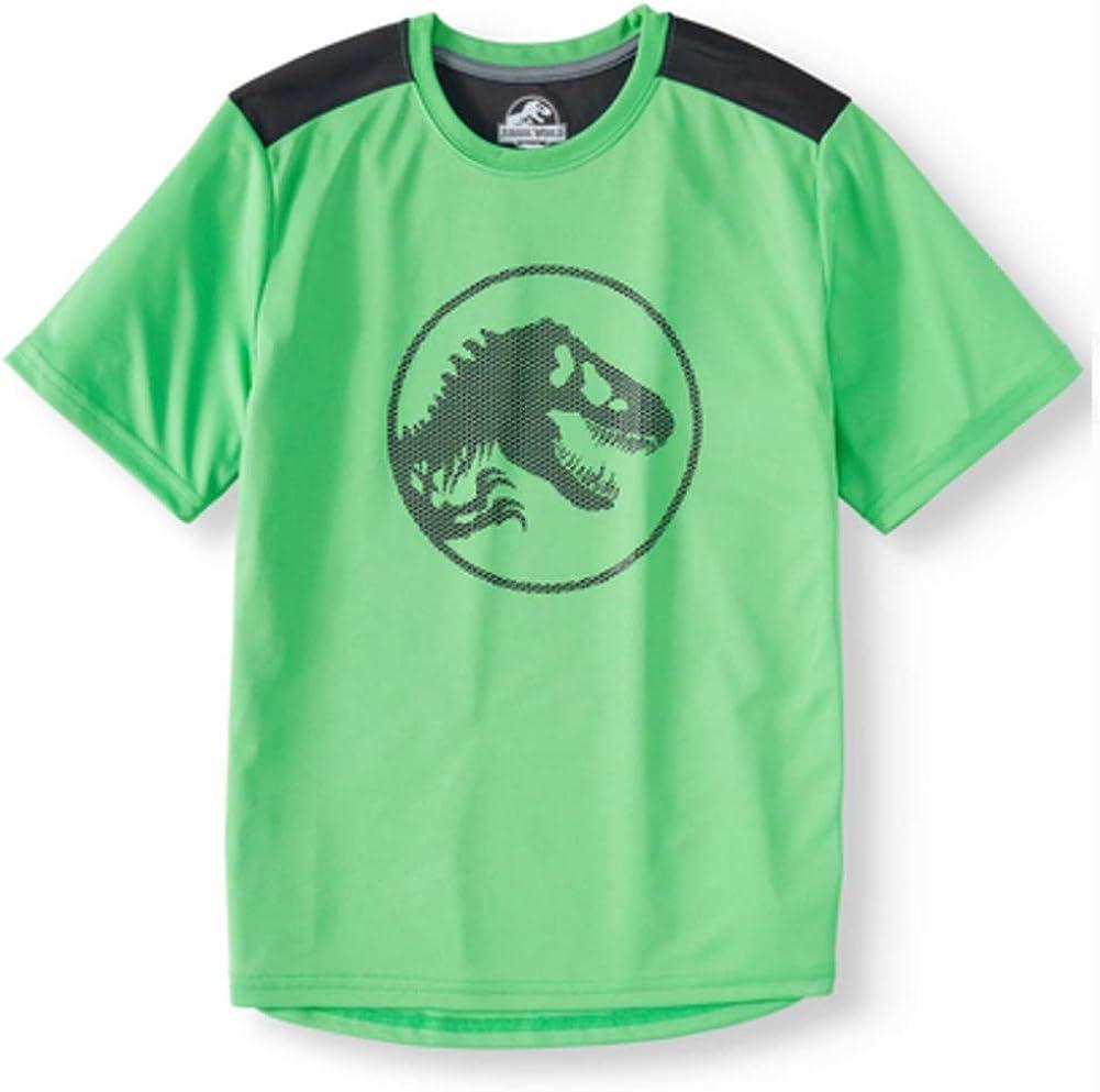 Isaac Morris Boy's Jurassic World Short Sleeve Performance Shirt (Small 6/7) Green