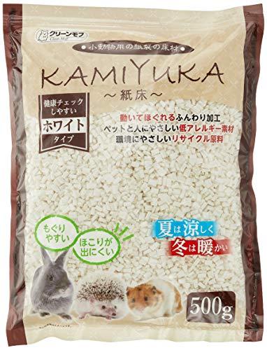 クリーンモフ 小動物用床材KAMIYUKA~紙床~ ホワイト 500g