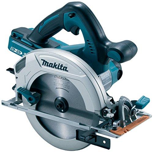 Makita DHS710Z 36V Cordless li-ion Circular Saw (Body Only) -Accepts 2 x 18V Batteries, 36 V, Blue, Large