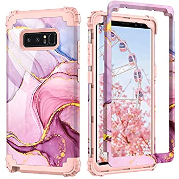 Galaxy Note 8 case,PIXIU Heavy Duty Protection Shock Absorption Anti Scratch Hybrid Dual Layer Phone Cases for Samsung Galaxy Note 8 2017 Realeased  Marble