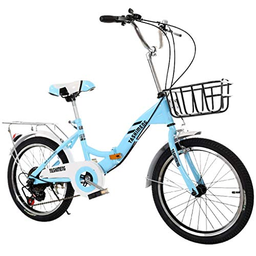SHUANGA 18 Zoll Childs Lightweight Mini Removable Bike ohne Pedal Bike18-Zoll-Single-Speed-Faltrad (tragend 120 kg)