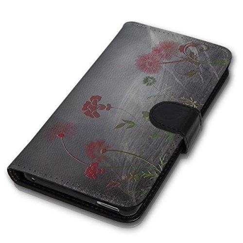 wicostar Book Style Handy Tasche - Design MVB-80 - kompatibel mit ZTE Blade L3 - Cover Case Schutz Hülle Etui Schutzhülle