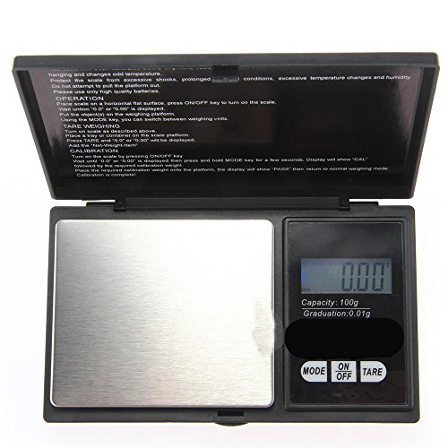 1000 g / 0.1 g Pocket Digital Scales for Gold or Coins – Black by DELIAWINTERFEL