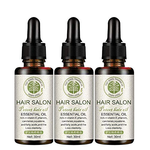 hair serum for dry hair kerastase,Natural Herbal essence Anti Hair Loss Hair Serum,Hair Repair Treatment for Dry Damaged Hair, Fragile Split Fork Care (3 PCS)