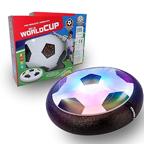 JUGUETECNIC │ Balón de Fútbol Flotante Hoverball con Luces | Deslizante con Espuma para Jugar Dentro o Fuera │ Balón con Luces LED Que Brilla en la Oscuridad