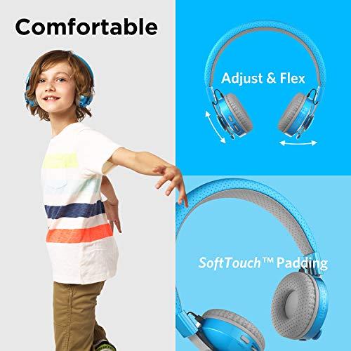 LilGadgets Untangled PRO Kids Premium Wireless Bluetooth Headphones with SharePort and Microphone (Children) - Blue