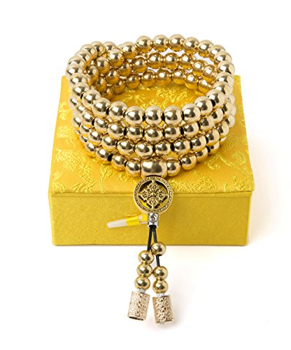 Penixon Selbstverteidigung 108 Buddha Perlen Halskette Ketten (Messing)*