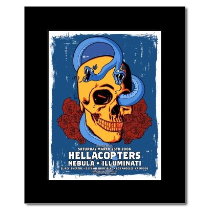 HELLACOPTERS - The El Ray Theatre Hollywod 2006 Matted Mini Poster - 23.5x17.6cm