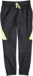 Jumping Beans Boys Tricot Active Jogger Slim Fit Pants Black and Yellow 6