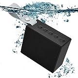 1 altavoz Bluetooth inalámbrico portátil impermeable con sonido estéreo de graves fuertes altavoces Bluetooth con micrófono integrado para fiesta en la playa, sala de estar, ducha, hogar
