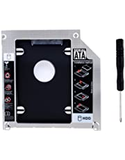 RGBS Harde schijf Caddy Tray 2nd HDD SSD kit, compatibel met (2,5 inch) 9,5 mm, SATA HDD SSD 2nd HDD adapter voor Apple MacBook Pro, Unibody 13 15 17 SuperDrive, dvd-station