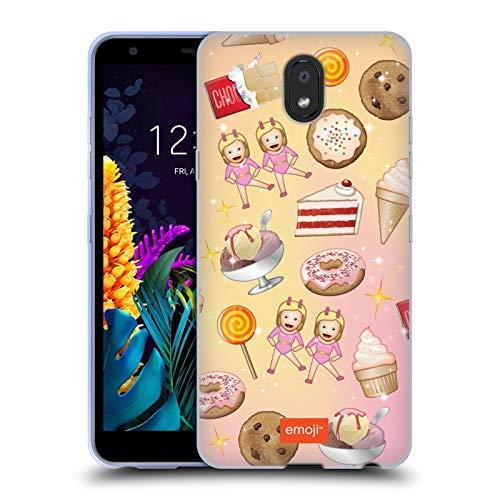 Officiële emoji® Snoepjes Patronen Soft Gel Case Compatibel voor LG K30 (2019)