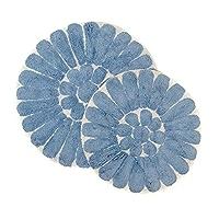 2x vaisselle foulards Bâton qui halbleinen Papillon Cuisine foulards fleurs cheval multicolores