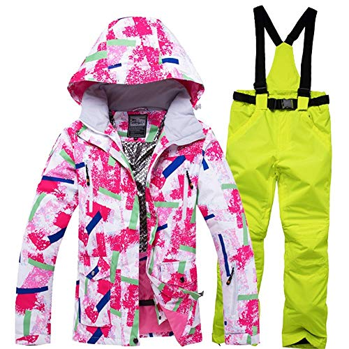 Atzlshof Skipak voor dames, sneeuwjas, broeken, vrouwen, waterdicht, winddicht, snowboard-mantel en broek, winter, skipak