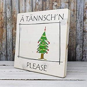 Ä Tännsch'n Please – elbPLANKE | 20×20 cm | Holzbilder von Fotoart-Hamburg – 100% Handmade aus Holz (Kiefer/Fichte)