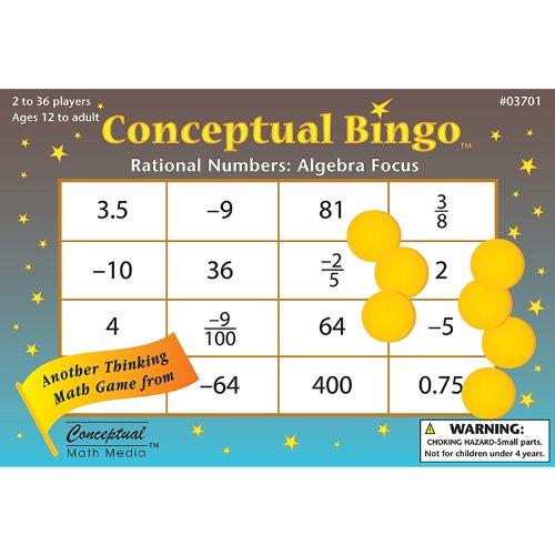 CONCEPTUAL BINGO RATIONAL NUMBERS