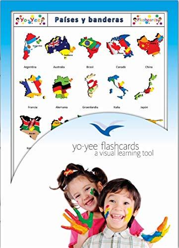 Yo-Yee Flashcards Tarjetas con Ilustraciones en español - Países y Banderas - para Clases de Idiomas y fomento del Aprendizaje del Idioma en guarderías, escuelas Infantiles y colegios