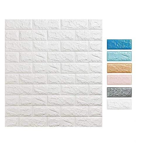 3D Tapete Wandpaneele selbstklebend - Moderne Wandverkleidung in Steinoptik in 5 verschiedenen Farben - schnelle & leichte Montage (10x Stück, Grau)
