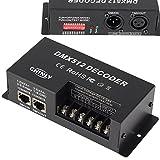 3 canales 30A DMX 512 LED Decodificador Controlador DMX regulador de intensidad usar para DC12-24V...