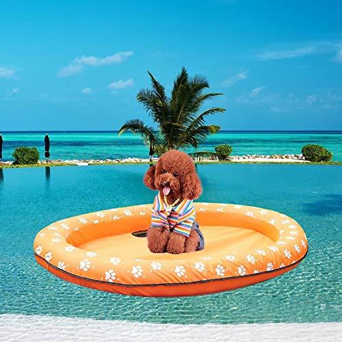 knowledgi Aufblasbar Schlauchboot Hunde Boot Haustier Luftmatratze Schwimmbad Strand Spielzeug