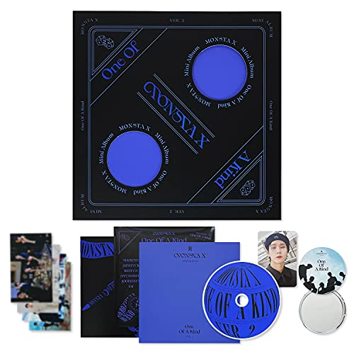 MONSTA X 9th Mini Album - One Of A Kind [ Ver. 2 ] CD + Sleeve Cover + Photo Book + Lyric Book + Photo Card + Sticker