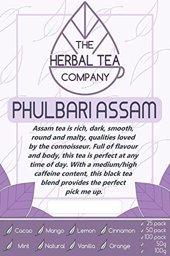 Zhu Ling Phulbari Assam Tea Bags Organic With Cinnamon Flavour 100 Pack